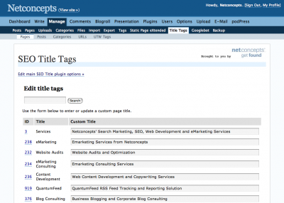 Mass edit title tags of static pages