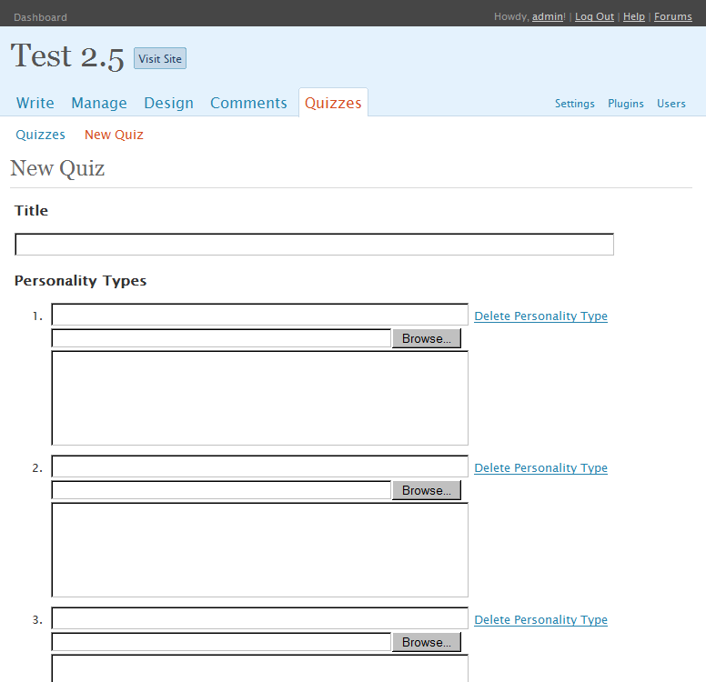 Wordpress Psychological Tests & Quizes 1